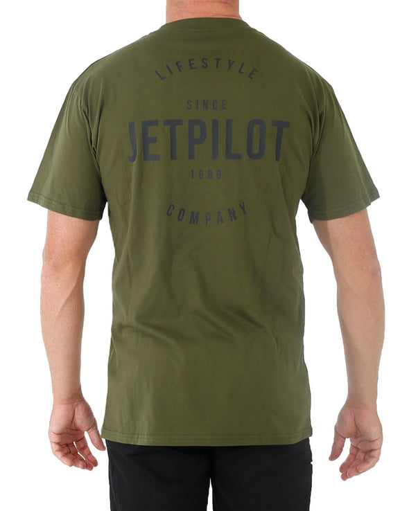 JETPILOT LIFESTYLE MENS TEE MILITARY