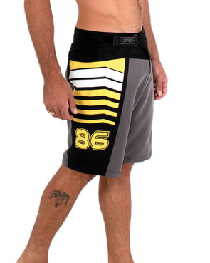 JETPILOT ORBIT MENS BOARDSHORT CHARCOAL/YELLOW