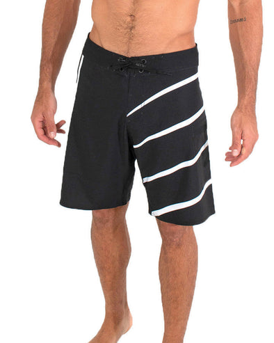 JETPILOT SIDESWIPE MENS BOARDSHORT BLACK/WHITE