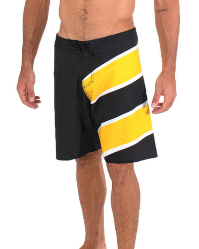 JETPILOT SIDESWIPE MENS BOARDSHORT BLACK/YELLOW
