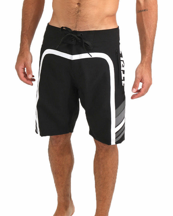 JETPILOT OZ SCALP MENS BOARDSHORT BLACK/GREY