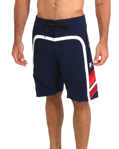 JETPILOT OZ SCALP MENS BOARDSHORT RED/WHITE/BLUE