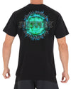 JETPILOT BURN MENS TEE BLACK/AQUA