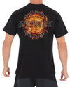 JETPILOT BURN MENS TEE BLACK/ORANGE