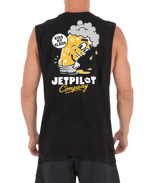 JETPILOT KISS MY MENS MUSCLE BLACK