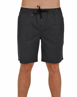 JETPILOT CORP ELASTICATED MENS WALKSHORT BLACK/CHAMBRAY