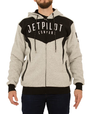 JETPILOT HOLE SHOT MENS FLEECE BLACK/ICE MARLE