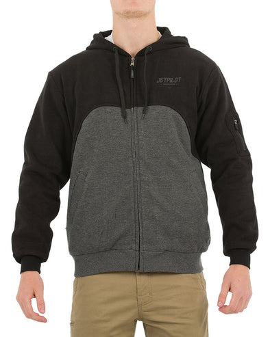 JETPILOT ELEMENTS FLEECE MENS JACKET BLACK/CHARCOAL