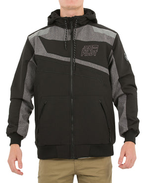 JETPILOT MX ONE MENS JACKET BLACK/CHAMBRAY