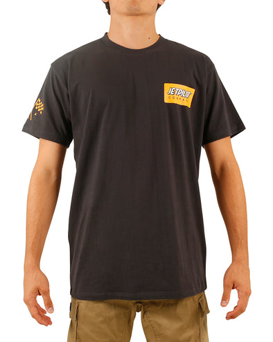 JETPILOT GARAGE MENS TEE CHARCOAL