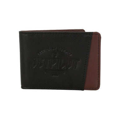 JETPILOT SHOWTIME LEATHER WALLET BLACK/BROWN