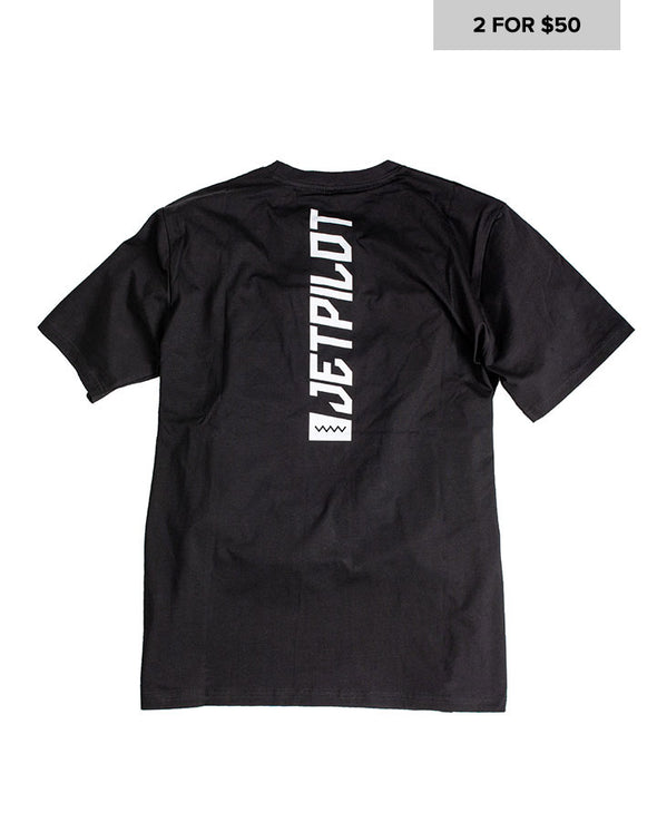 JETPILOT MENS SPINED TEE BLACK