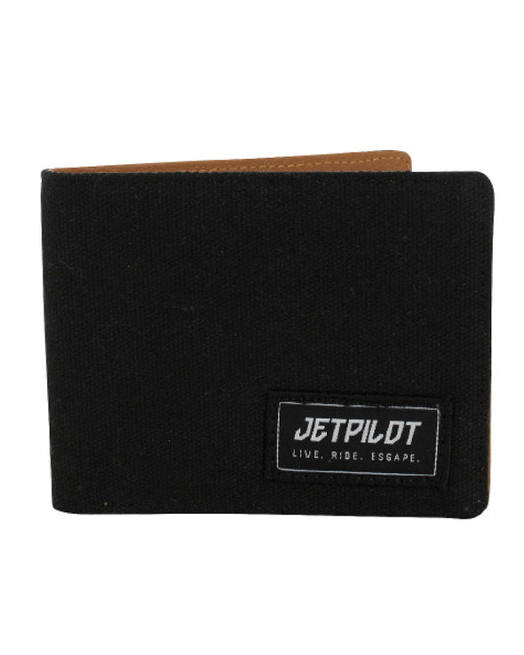 JETPILOT PATCH PU WALLET BLACK