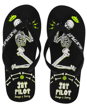 JETPILOT DAMAGE & DESTROY MENS THONGS BLACK