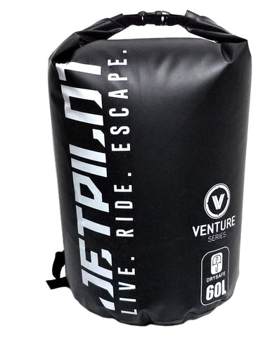 JETPILOT VENTURE 60L DRYSAFE BACKPACK BLACK