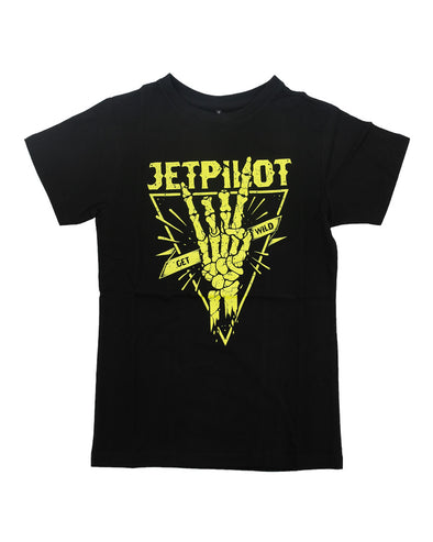JETPILOT GET WILD YOUTH TEE BLACK/GREEN