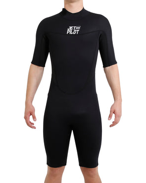 JETPILOT MENS THE CAUSE 2MM S/S SPRINGSUIT BLACK