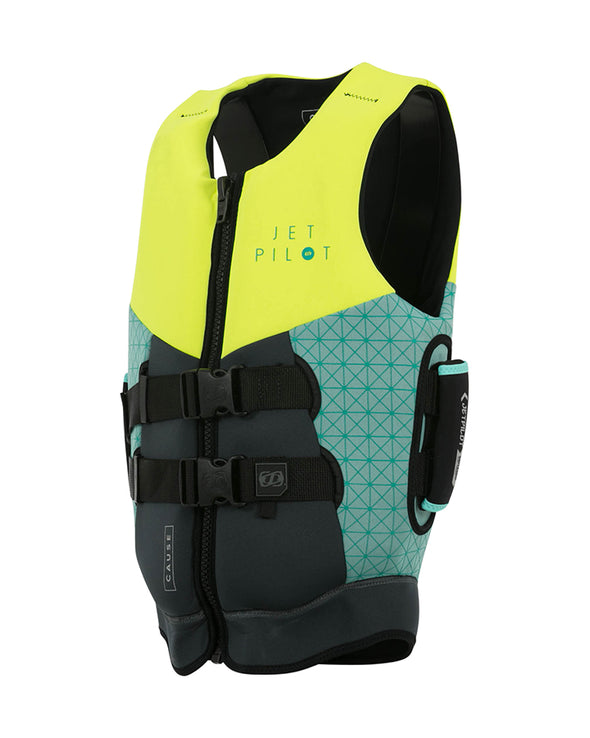 JETPILOT LADIES CAUSE SEG F/E L50 NEO VEST YELLOW/TEAL 50