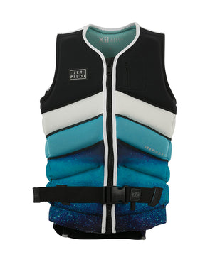 JETPILOT LADIES X1 RAPID DRY SEG F/E NEO VEST BLACK/BLUE