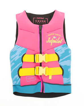 JETPILOT YOUTH THE CAUSE F/E KIDS NEO VEST PINK