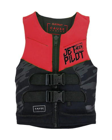 JETPILOT THE CAUSE F/E YOUTH NEO VEST RED LEVEL 50