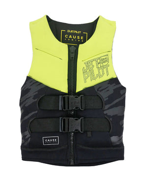 JETPILOT YOUTH THE CAUSE F/E KIDS NEO VEST YELLOW LEVEL 50
