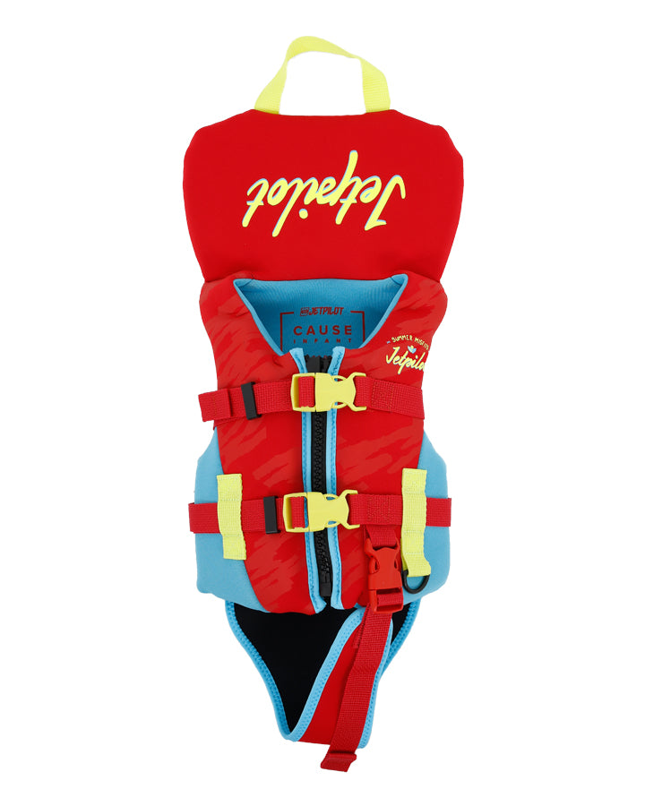 JETPILOT YOUTH THE CAUSE F/E INFANT NEO VEST RED LEVEL 50