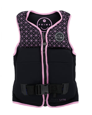 JETPILOT PRIME SEG F/E YOUTH GIRLS NEO VEST BLACK/PINK