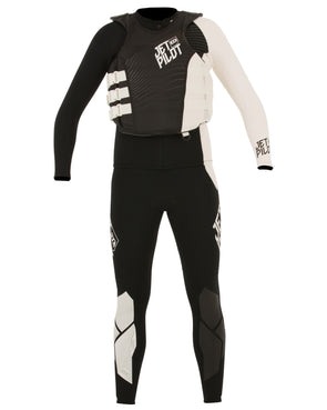 JETPILOT MENS MATRIX PRO RACE SUIT AND VEST BLACK/WHITE