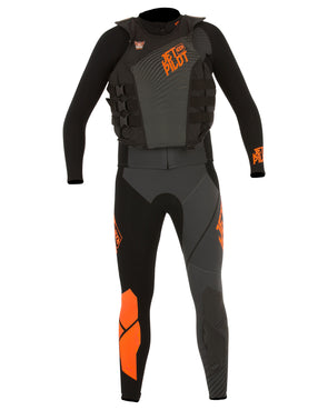 JETPILOT MENS MATRIX PRO RACE SUIT AND VEST BLACK/ORANGE