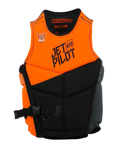 JETPILOT MENS MATRIX PRO S/E NEO VEST ORANGE LEVEL 50