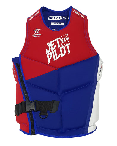 JETPILOT MENS MATRIX PRO S/E NEO VEST RED LEVEL 50