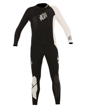 JETPILOT MENS MATRIX PRO JOHN AND JACKET BLACK/WHITE