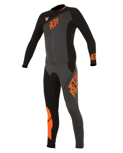 JETPILOT MENS MATRIX PRO JOHN AND JACKET CHAR/ORANGE