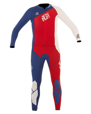 JETPILOT MENS MATRIX PRO JOHN AND JACKET RED/BLUE