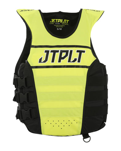 JETPILOT RX MENS SE NYLON VEST YELLOW LEVEL 50/BLACK