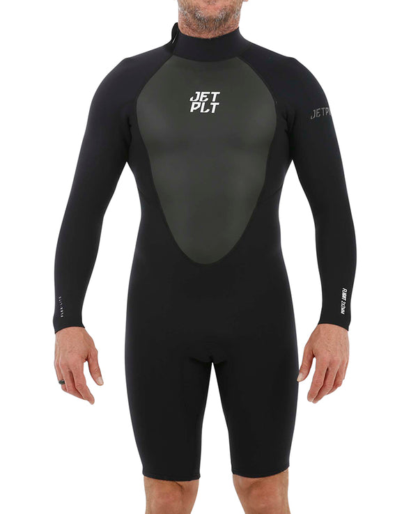 JETPILOT MENS FLIGHT 2x2 BZ LS SPRINGSUIT BLACK