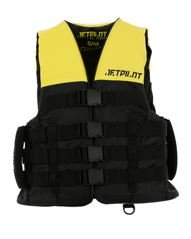 JETPILOT STRIKE MENS FE NYLON VEST YELLOW LEVEL 50