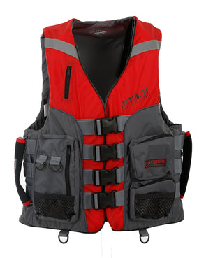 JETPILOT VENTURE MENS FE NYLON VEST RED LEVEL 50