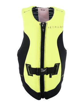 JETPILOT CAUSE REV F/E LADIES NEO VEST CHARCOAL/YELLOW L50
