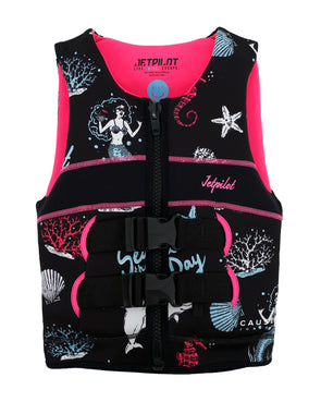 JETPILOT YOUTH CAUSE FE L50S KIDS NEO VEST BLACK/PINK