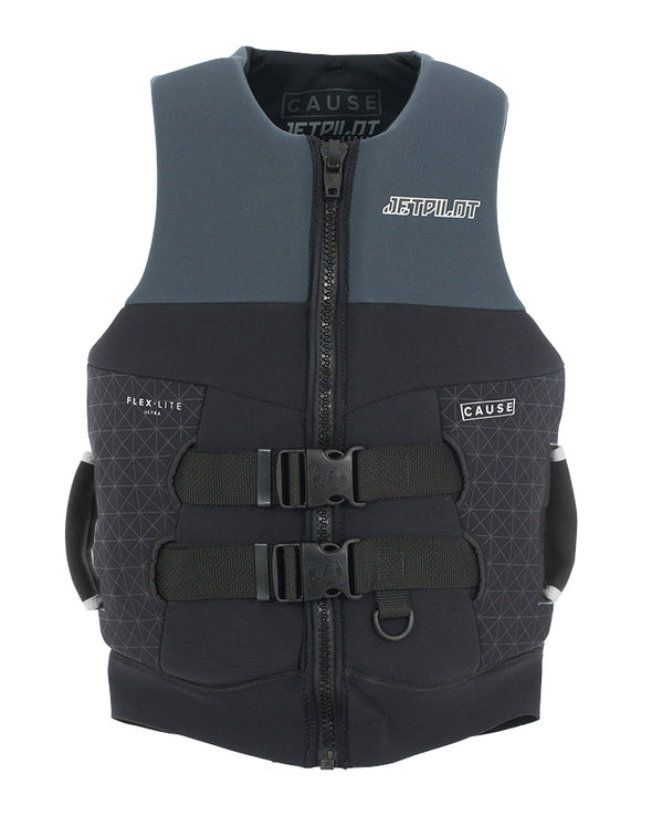 JETPILOT CAUSE MENS S-GRIP NEO VEST BLACK/CHARCOAL