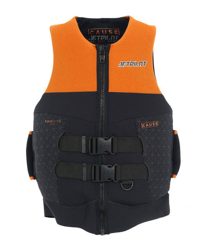 JETPILOT CAUSE MENS S-GRIP NEO VEST ORANGE LEVEL 50