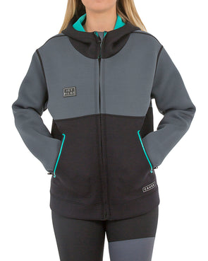 JETPILOT 2MM LADIES FLIGHT TOUR COAT TEAL