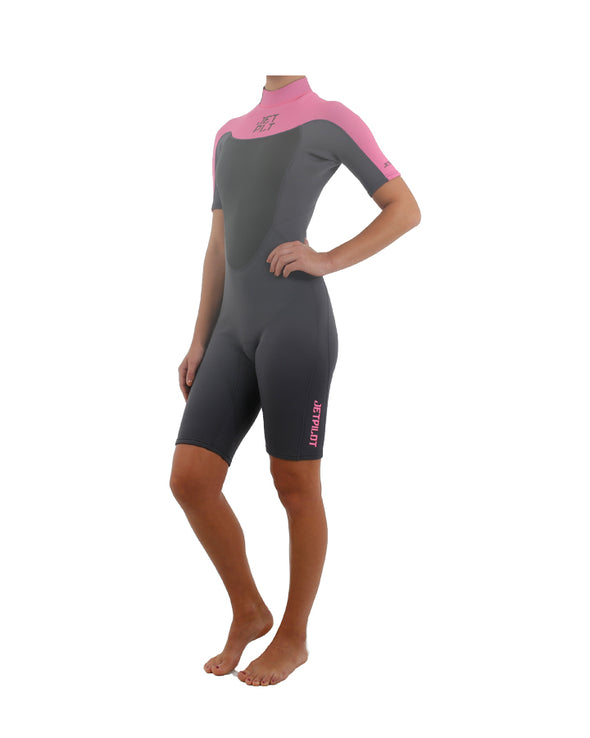 JETPILOT FLIGHT 2x2 S/S LADIES SPRING SUIT PINK