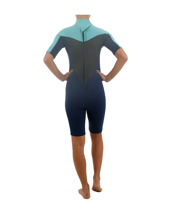 JETPILOT FLIGHT 2x2 S/S LADIES SPRING SUIT TEAL