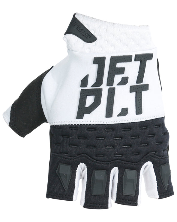JETPILOT RX SHORT FINGER RACE GLOVE WHITE/BLACK