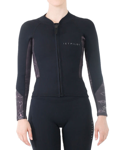 JETPILOT BEC ASCENT LADIES LS 2MM JACKET BLACK