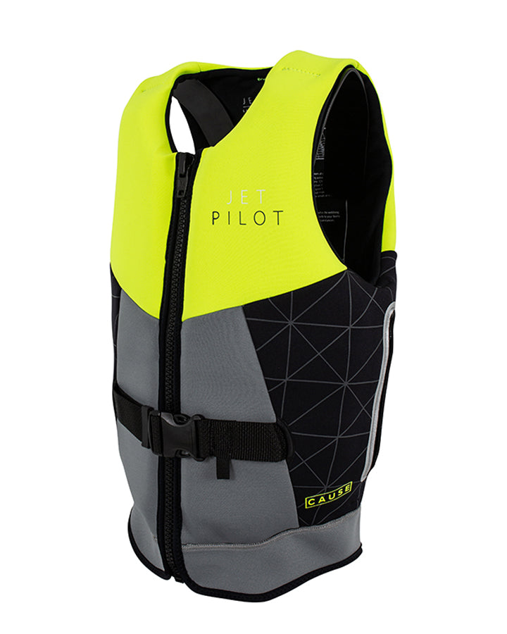 JETPILOT CAUSE F/E LADIES NEO VEST GREY/YELLOW L50