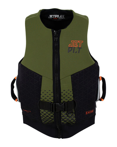 JETPILOT CAUSE F/E MENS NEO VEST MILITARY/BLACK
